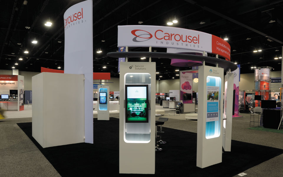 20x40 Island exhibit Rear View | Carousel Industries