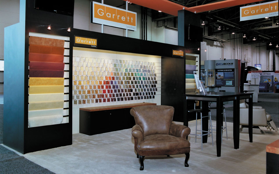 Trade Show Booth with Slat Wall Merchandising Display