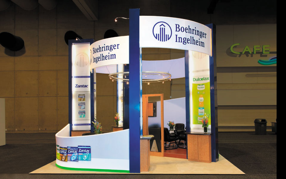 20x20 Island Trade Show Exhibit | Boehringer Ingelheim