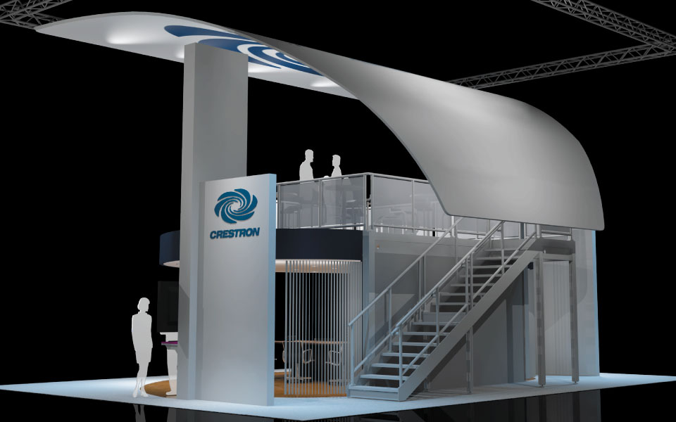 Double Deck Trade Show Booth Concept