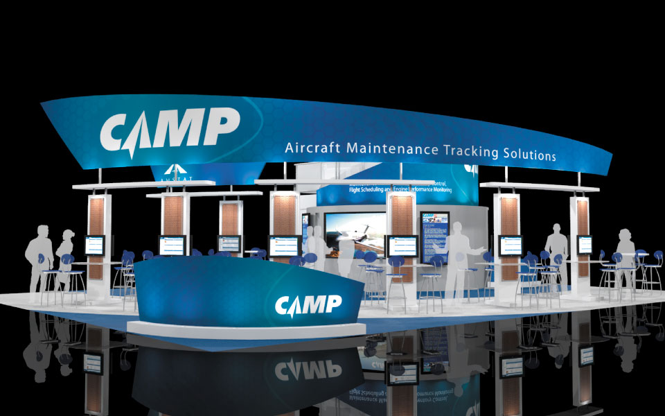 Exhibition Booth Structure : Custom trade show fabric structures overhead signage