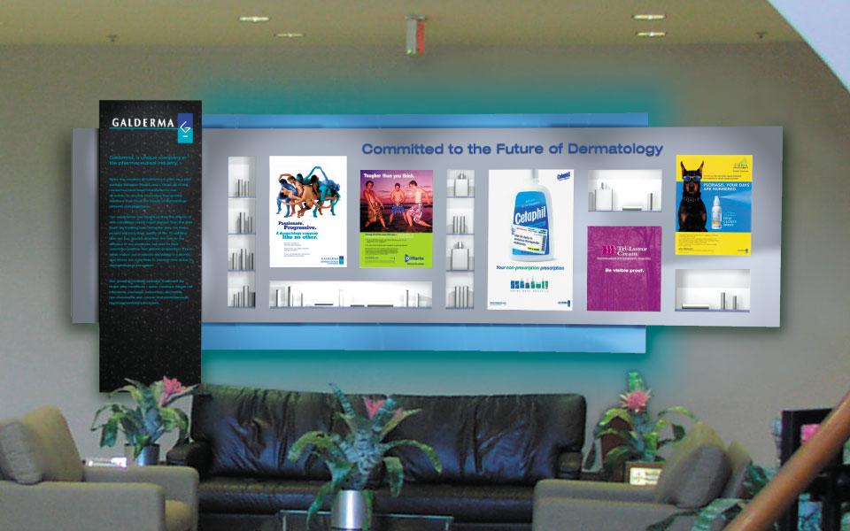 Galderma Lobby Display view 2