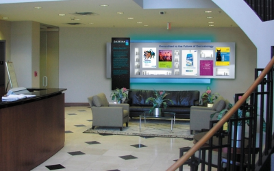 Galderma Lobby Display