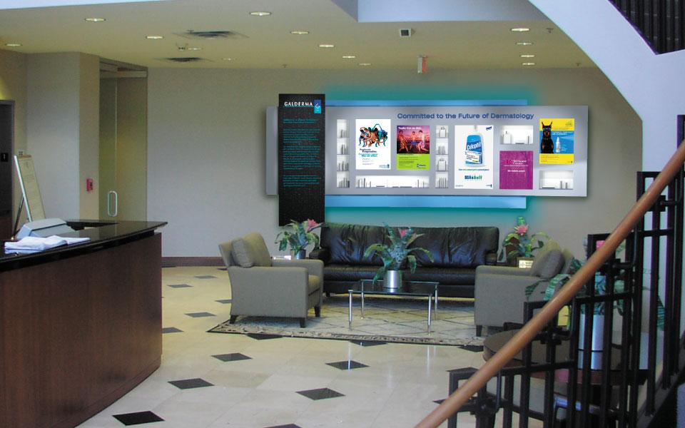 Galderma Lobby Display