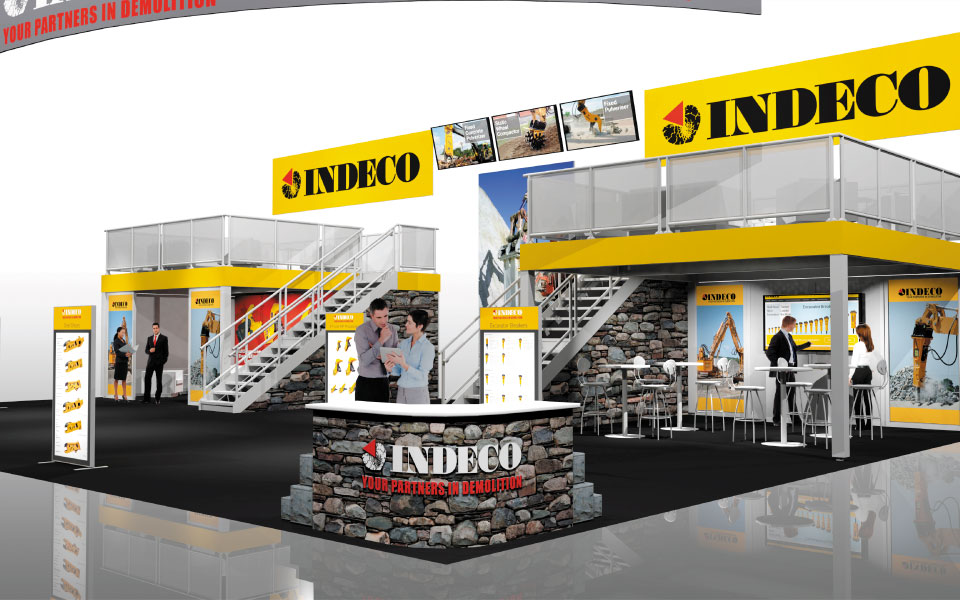Indeco Double Deck Rental Booth by DisplayCraft