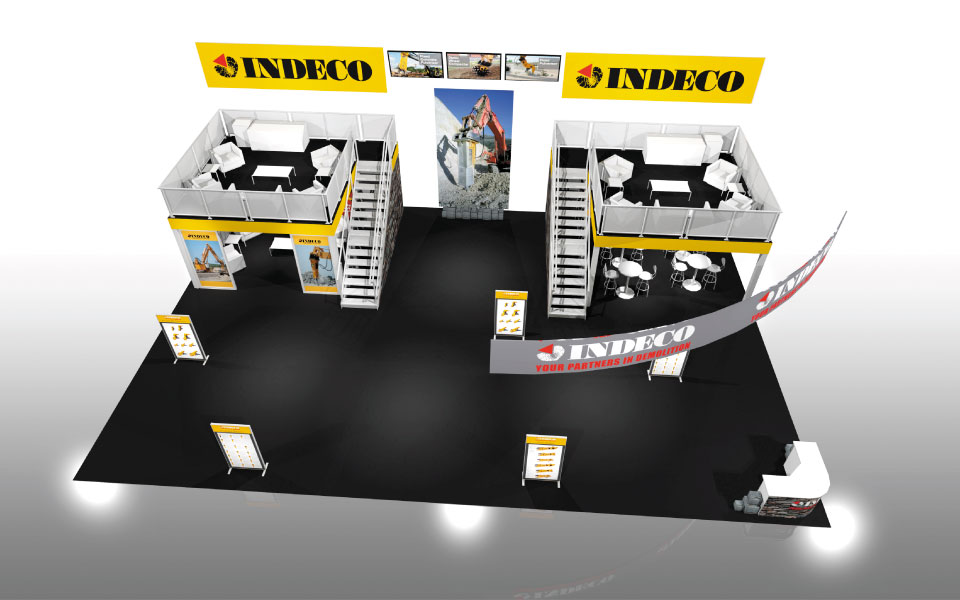 Double Deck Rental Booth for Indeco | DisplayCraft