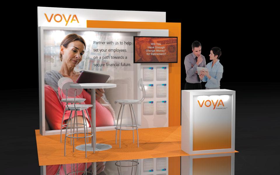 10x10 Lightweight Booth Concept | Voya Financial