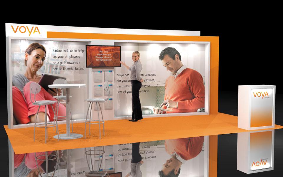 10x20 Lightweight Booth Concept | Voya Financial
