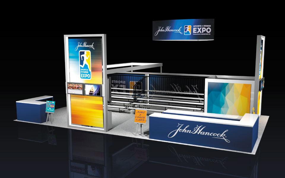John Hancock Event Booth Design by DisplayCraft