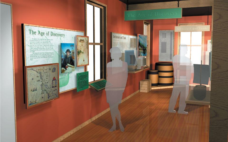 Museum Graphic Display Design | Connecticut River Museum | DisplayCraft