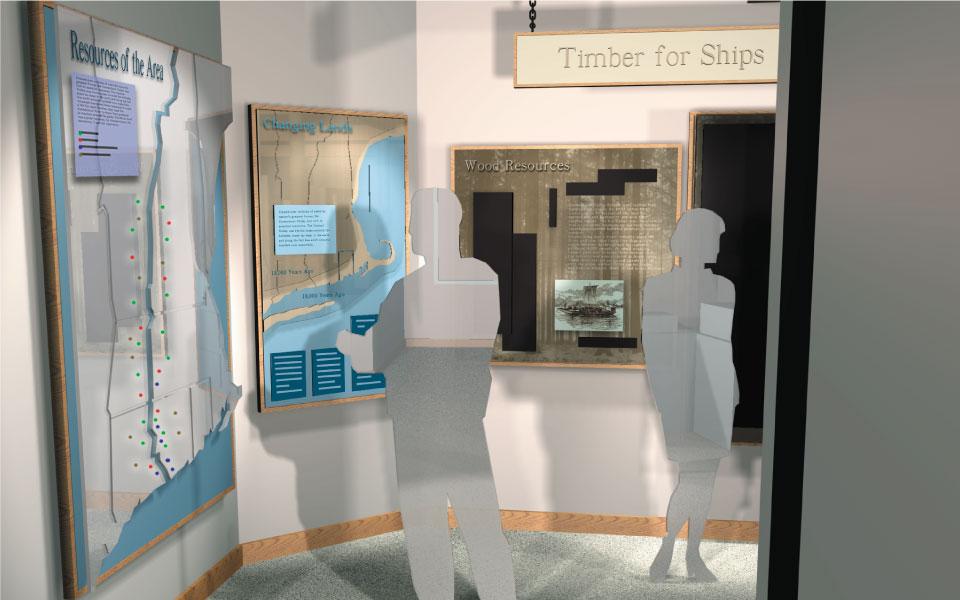 Museum Display Design Elevation | Connecticut River Museum | DisplayCraft