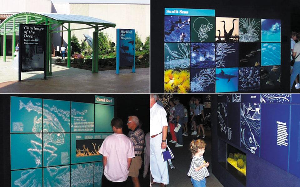 Mystic Aquarium Installation Collage | DisplayCraft