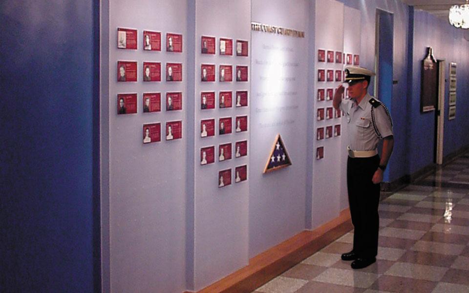 Wall of Heros Wall Display 2 | US Coast Guard