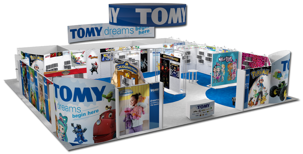 Tomy Trade Show Booth Rendering