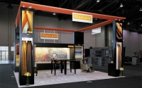 Garrett Leather 20 x 20 Island Exhibit at NBAA Conference