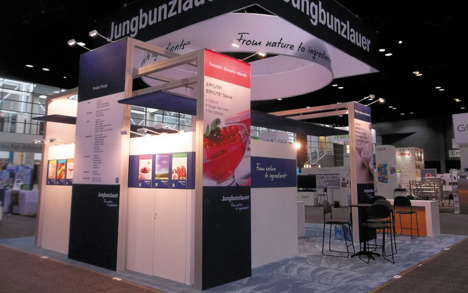 20x20 Trade Show Booth Rear Elevation 2 | Jungbunzlauer