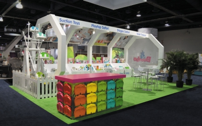 20x30 Custom Island Booth | Bumbo International