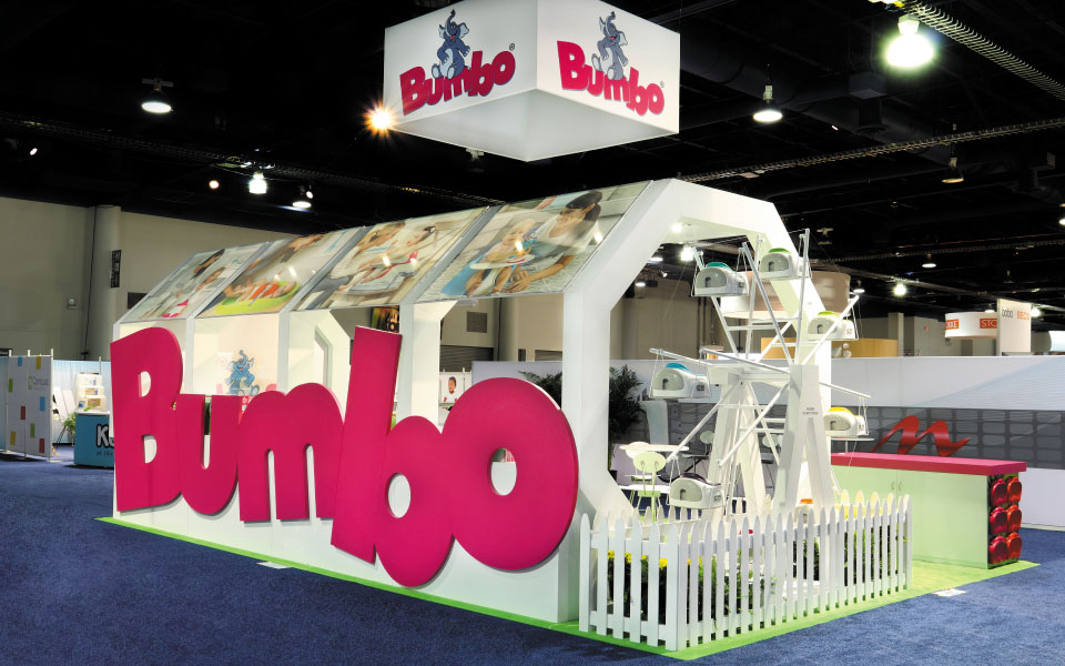 Bumbo Island Booth | Large 3D Letters | DisplayCraft