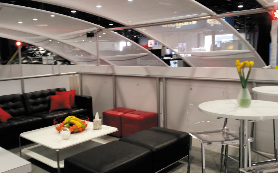 Double Deck Island Exhibit Upper Level Lounge | Angenieux