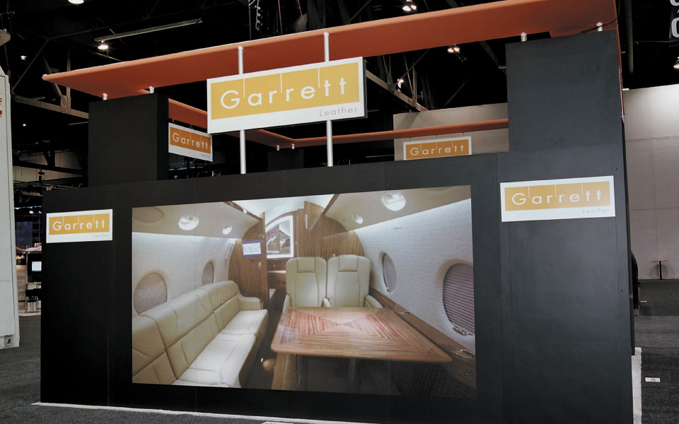 Trade Show Booth Wall Mural | Garrett Leather