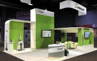 Modular Island Exhibit with SEG Fabric Graphics | Sensus Healthcare