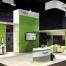Modular Island Exhibit with SEG Fabric Graphics   Sensus Healthcare