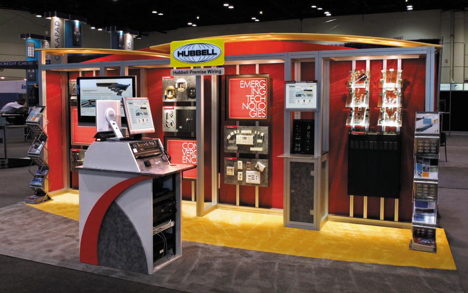 Custom Modular Exhibit | Custom Linear Exhibit | Hubbell