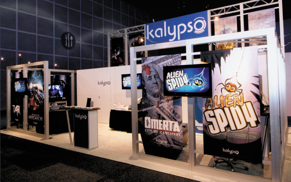 Exhibition Booth Rental Singapore : Custom rental trade show booth kalypso media