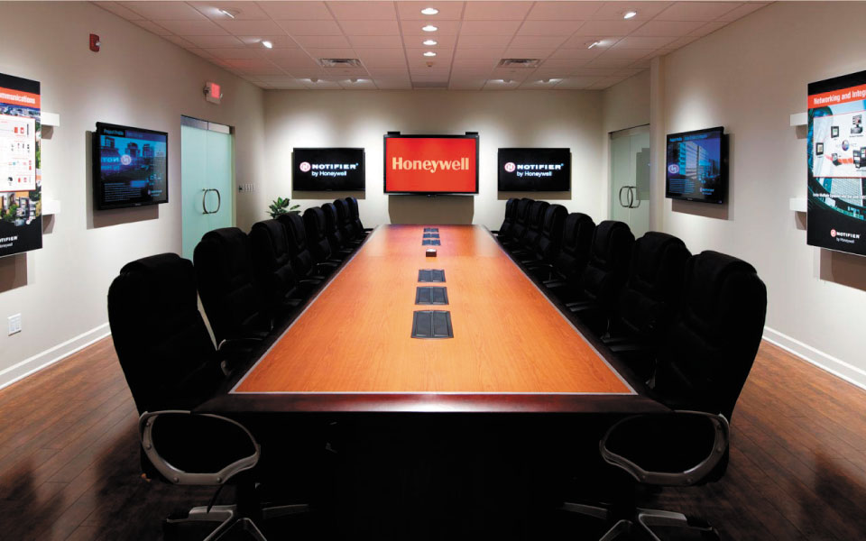 Honeywell Brand Experience Center | Corporate Boardroom | DisplayCraft