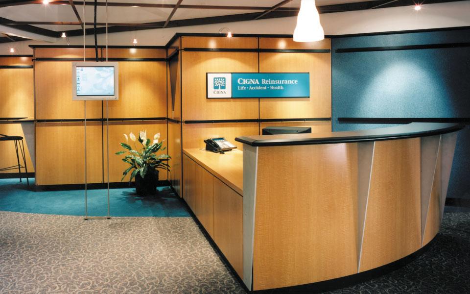 Cigna Corporate Interior reception desk