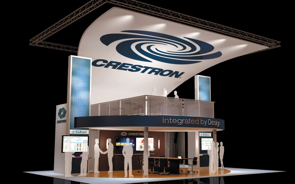 Crestron Double Deck Booth Concept