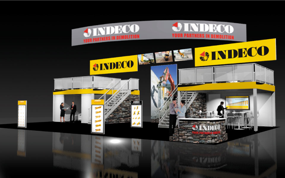 60x40 Island Trade Show Booth Rental - DisplayCraft