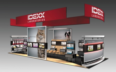 Interactive Trade Show Booth Design | IDEXX | DisplayCraft