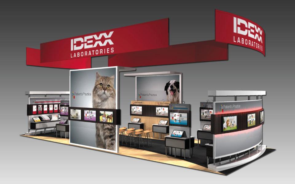 Interactive Trade Show Booth Design   IDEXX   DisplayCraft