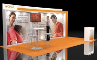 10x20 Lightweight Booth Concept | Voya Financial