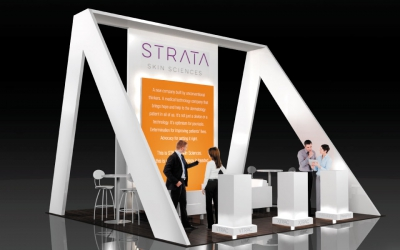 simple booth design strata - Booth Design Ideas
