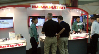 Hamamatsu linear booth at PITTCON