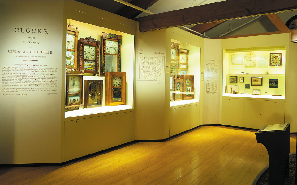 American Clock and Watch Museum | Wall Alcove Displays
