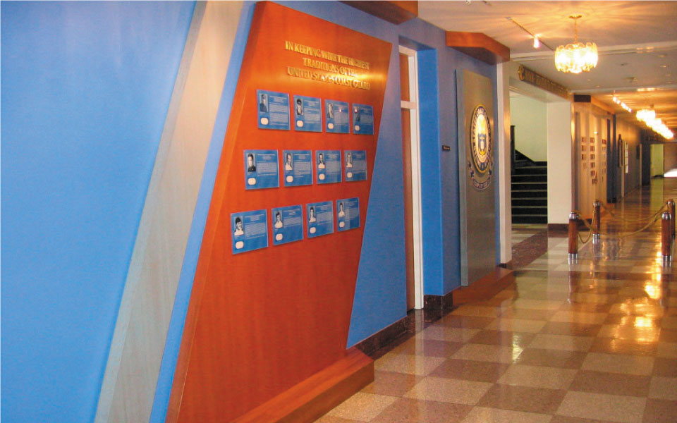 Award Plaque Wall Display at US Coast Guard Academy | DisplayCraft