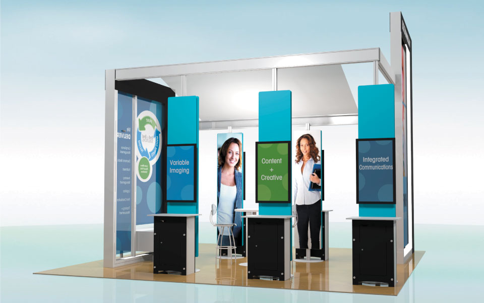 Rental Trade Show Exhibit Rendering by DisplayCraft