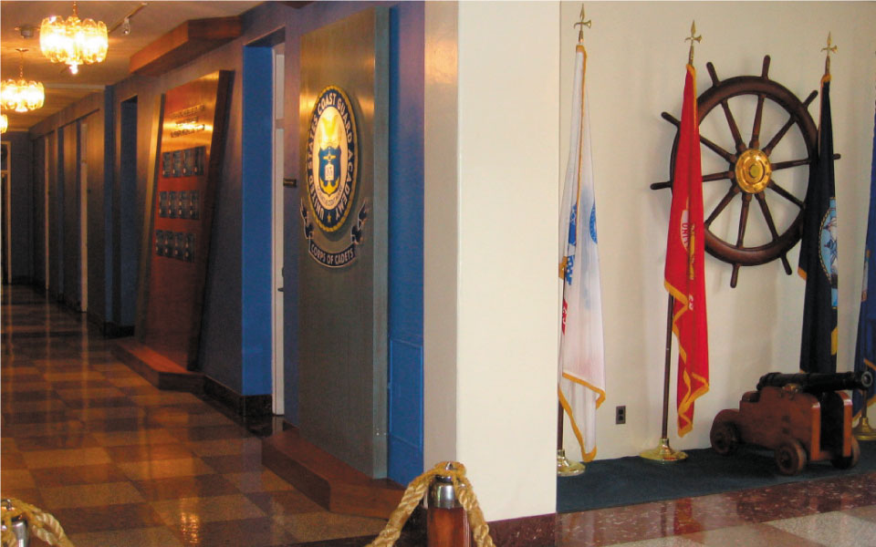 Wall Displays at US Coast Guard Academy | DisplayCraft