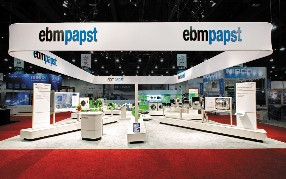 Custom Island Trade Show Exhibit | ebm-papst