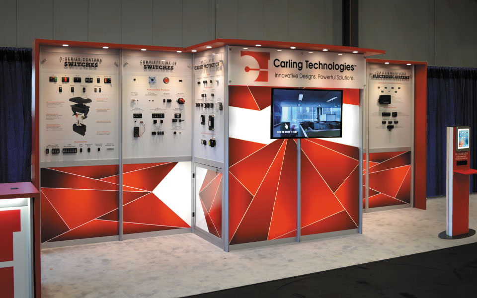 Booth Makeover with Back-lit Graphics | Carling Technologies