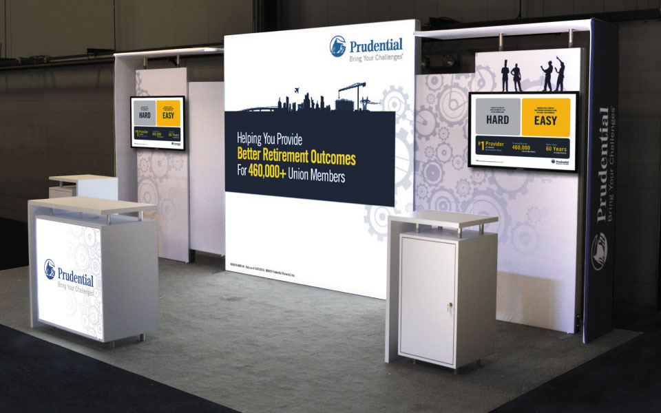 Hybrid Display Solution - Hybrid Trade Show Booth | Prudential Retirement